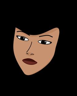 Portrait clipart female head - Pencil and in color portrait clipart ...