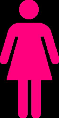 Pink Female Clip Art at Clker.com - vector clip art online, royalty ...