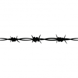 Barbed Wire #12 Straight Barb Fence Fencing Jail Western Ranch Tattoo Spike  Spiked .SVG .EPS .PNG Digital Clipart Vector Cricut Cut Cutting