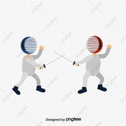 Cartoon Hand Fencing Indoor Movement Fencing, Health, Game ...