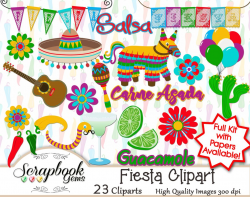 FIESTA! Clipart & Papers | Scrapbook Gems