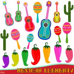 Mexican clipart Guitar Clipart fiesta clipart Instant