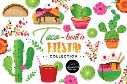Taco Bout A Fiesta Clipart Graphics & D | Design Bundles