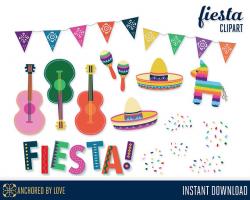 Fiesta Clipart, Cinco de Mayo Clipart, Mexican Clipart, Mexican ...