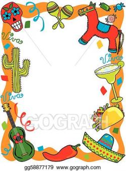 Vector Clipart - Mexican fiesta party invitation. Vector ...