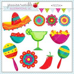 Fiesta Cute Digital Clipart, Spanish Mexican Clipart ...