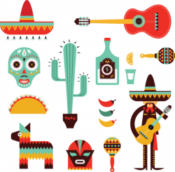 630 decorative mexican icons | Clip Bundels from OldCuts.co ...