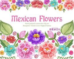 Fiesta Digital Clipart, Spanish Mexican Clipart, Mexican ...