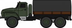 Clipart - Ural-4320 military truck (coloured)