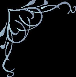 fancy corner designs | Blue Swirl Heart clip art - vector clip art ...