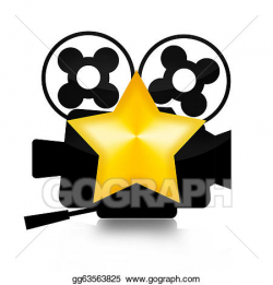 Stock Illustration - Movie star. Clipart Drawing gg63563825 ...