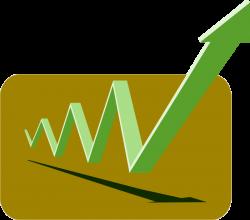 Clipart - financial graph arrows green up