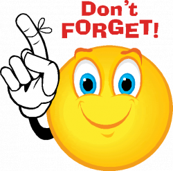 Reminder Smiley Face Clip Art free image