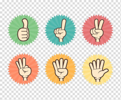 Hand Finger, Five fingers different action finger direction ...