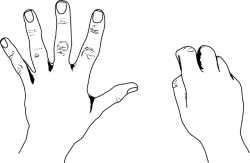 United States Style Counting Hands | ClipArt ETC
