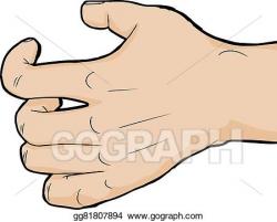Drawing - Close up grabbing hand. Clipart Drawing gg81807894 ...