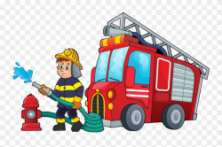 Cartoon Firefighter Pictures - Cartoon Fire Truck And ...