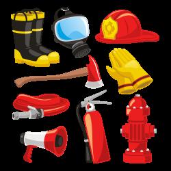 Firefighters helmet Bunker gear Fire engine Clip art - Fire Supplies ...