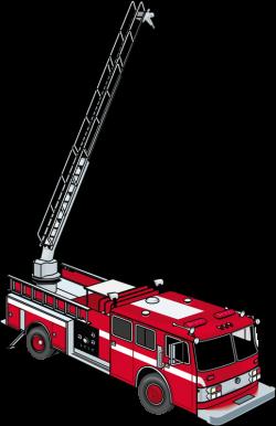 Ladder Fire engine Firefighter Fire department Clip art - Red fire ...