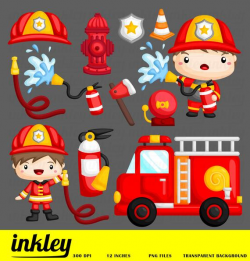 Fireman Clipart, Job Occupation Clip Art, Occupation Png, Firefighter  Clipart, Fire Truck Clipart, Water Hose Clipart, Fire Hydrant Clipart