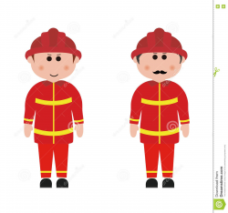 For Clipart Of Firefighters Occupation Vocational Design ...