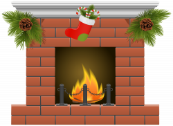 Christmas Fireplace PNG Clipart - Best WEB Clipart