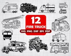 FIRE TRUCK SVG, fire truck, firetruck svg, fire truck clipart, fire fighter  svg, fire truck vector, transport svg, fire truck clip art, svg