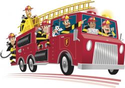 Best Firefighter Fire Truck Clip Art Library » Free Vector ...