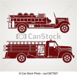 Image result for old fashioned fire truck silhouette ...