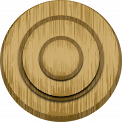 Clipart - Wood target