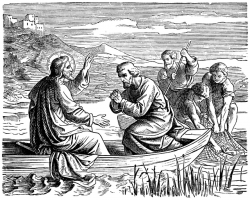 The Miraculous Draught of Fish - Jesus Fishes with His ...