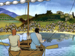 Free Visuals: Jesus and the Fishermen After lending Jesus ...
