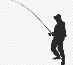 Vector graphics Clip art Silhouette Fishing Fisherman ...