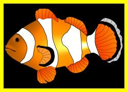 Astonishing Clown Fish Illustration Hanslodge Image For Clipart ...