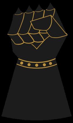 OnlineLabels Clip Art - Vintage Gauntlet Fist