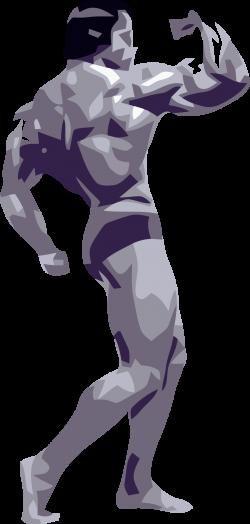 Clipart - Posing Bodybuilder