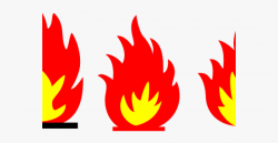 Flames Clipart Fire Trail - Fire Flame Clipart Black And ...