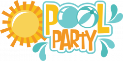 Pool Party SVG scrapbook title pool svg cut files pool party svg ...