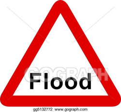 Stock Illustrations - Flood sign. Stock Clipart gg5132772 ...