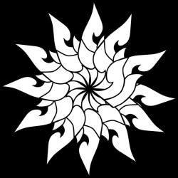 Thailand Floral Decoration Outline Clip Art at Clker.com - vector ...