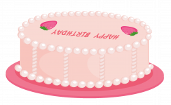 Birthday cake Icing Clip art - Pink Happy Birthday Cake PNG Clipart ...