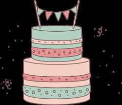 Torte Cake Drawing - Powder green lovely cake 3707*3189 transprent ...