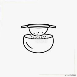 sift flour line icon