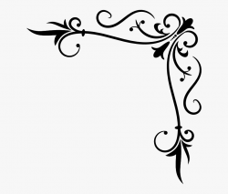 Corner Flourish Clipart - Flourish Corner #98452 - Free ...