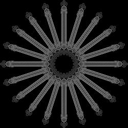 Clipart - Floral Flourish Design Interpolated 8
