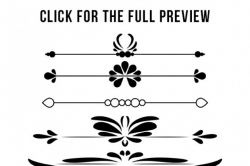85 Flourishes Mega Pack, Flourish Clipart, Wedding Clipart, Text ...