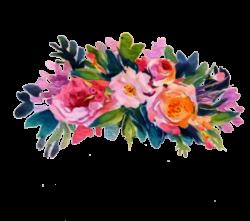 floral flowers headband flowercrown sticker freetoedit...