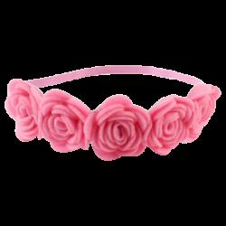 Rose Flower Pink Headband – Mini Sesame