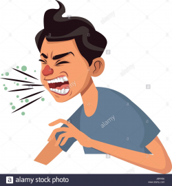 Sick Person With Flu Clipart