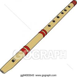 Vector Clipart - Simple wooden flute. Vector Illustration ...
